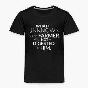 Wos da Bauer net kennt, frisst er net! (eng) - Kinder Premium T-Shirt