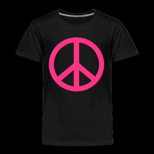 Gay pride peace symbool in roze kleur - Kinderen Premium T-shirt