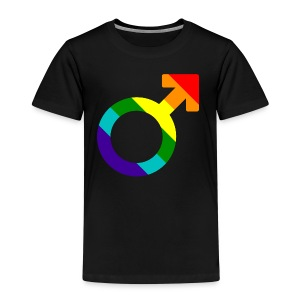 Gay pride regenboog mannen symbool - Kinderen Premium T-shirt