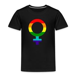 Gay pride regenboog vrouwen symbool - Kinderen Premium T-shirt