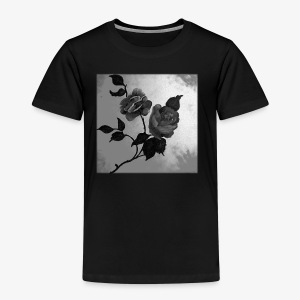 Black white roses on canvas - Kids' Premium T-Shirt
