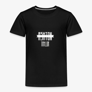 AshtonTaylor Merch Logo Modern White - Kids' Premium T-Shirt
