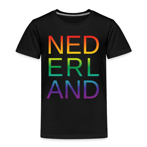 Nederland in de kleur van gay pride regenboog - Kinderen Premium T-shirt