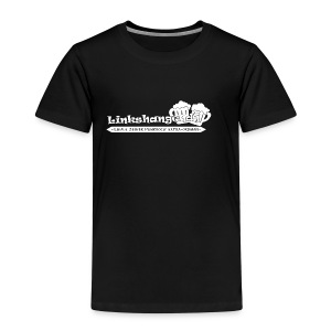 Linkshangendj Logo Wit - Kinderen Premium T-shirt