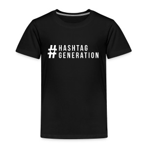 Hashtag generation logo final white - Kids' Premium T-Shirt