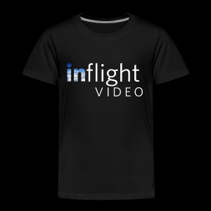 inflight Video White Logo - Kids' Premium T-Shirt