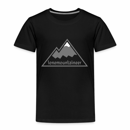 Lonemountaineer logo wht - Kids' Premium T-Shirt