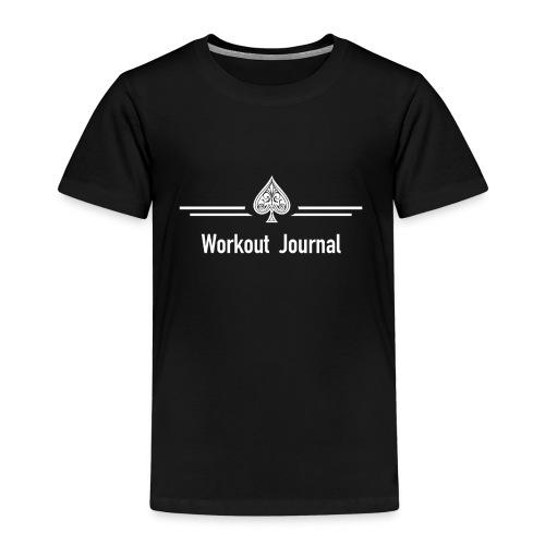 Das Workout Journal Logo - Kinder Premium T-Shirt