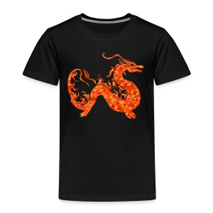 orange roter Drachen - Kinder Premium T-Shirt