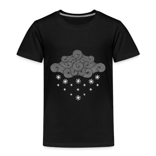 nuage gris et flocons vacances d'hiver - T-shirt Premium Enfant