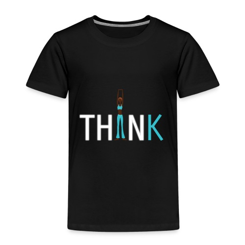 Slim, fit and thin, think being thin and healthy - Kids' Premium T-Shirt