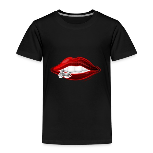 Lips with diamond ring - Kinderen Premium T-shirt