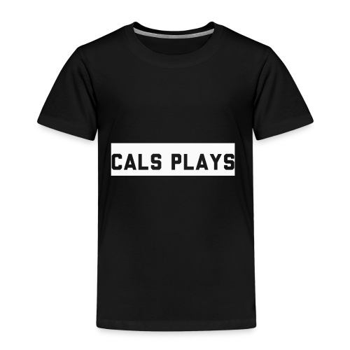 Cals Plays Text White - Kids' Premium T-Shirt