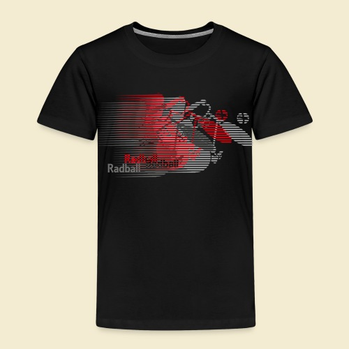 Radball   Earthquake Red - Kinder Premium T-Shirt