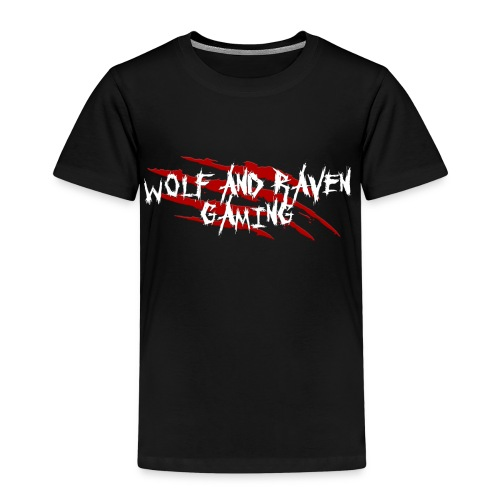Wolf and Raven Scratches - Kids' Premium T-Shirt