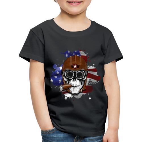 AMERICAN PILOT - SKULL - USA - LAHJATUOTTEET - Lasten premium t-paita