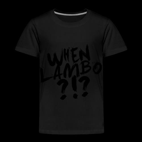When Lambo?!? | Crypto Shirt - Kinder Premium T-Shirt