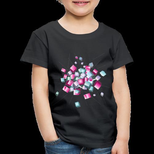 cube chaos - Würfel Explosion, Party und Festival - Kinder Premium T-Shirt