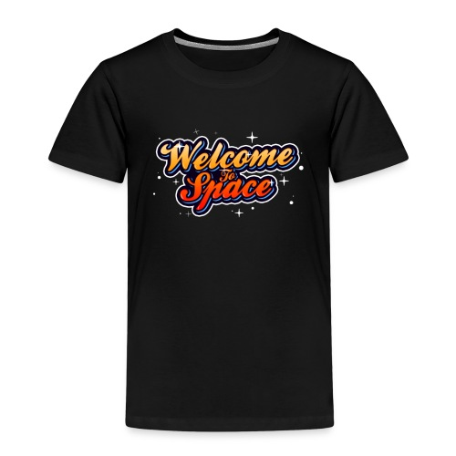 Colorful Welcome To Space Logo - Premium T-skjorte for barn