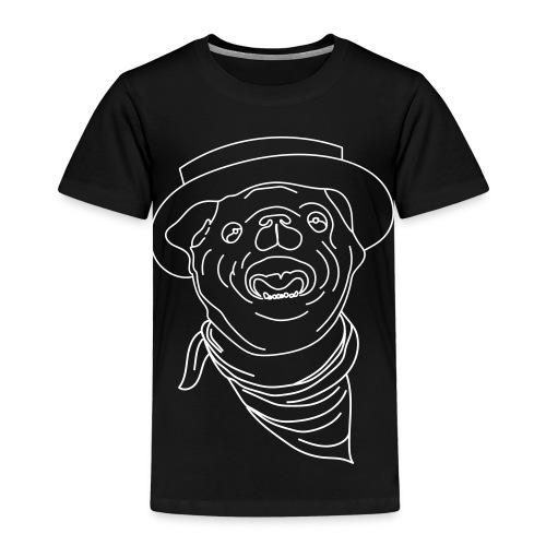 Pølsa The Cow-Pug - Premium T-skjorte for barn