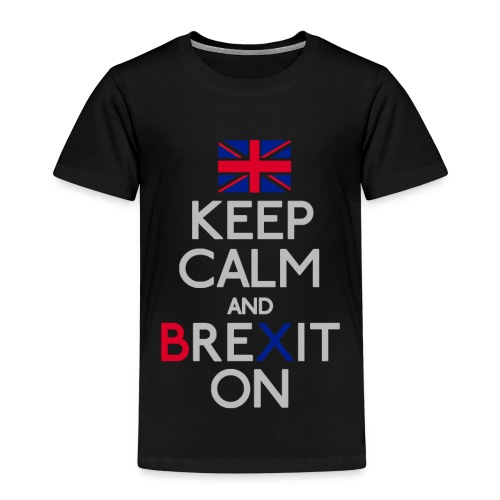 Keep Calm and Brexit On - Kids' Premium T-Shirt