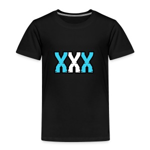 XXX (Blue + White) - Kids' Premium T-Shirt