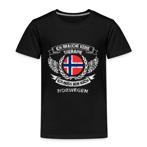 norwegen therapie t shirt retro dfd - Kinder Premium T-Shirt