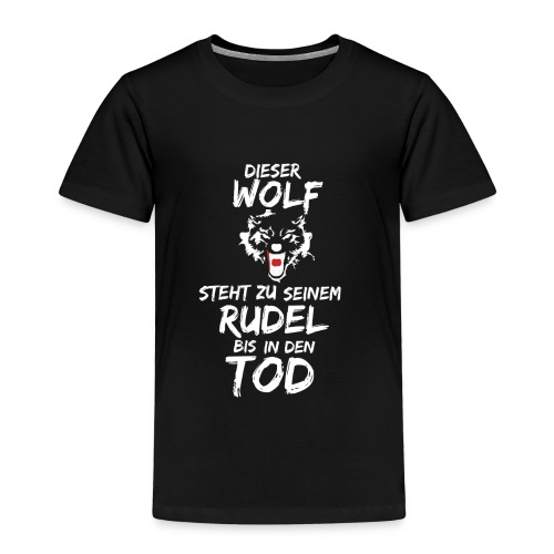 Wolf T Shirt Hoodie Sweatshirt Pullover - Kinder Premium T-Shirt