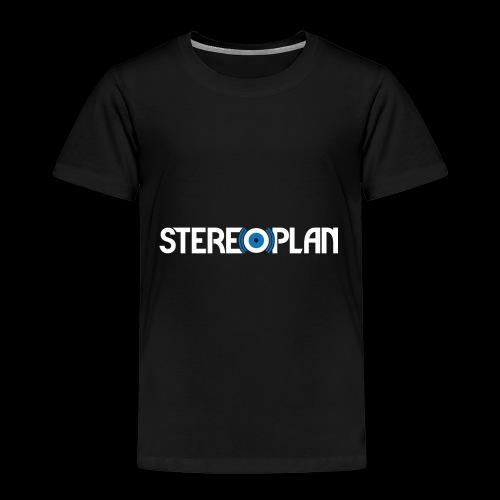 Stereoplan Logotype white - Premium-T-shirt barn