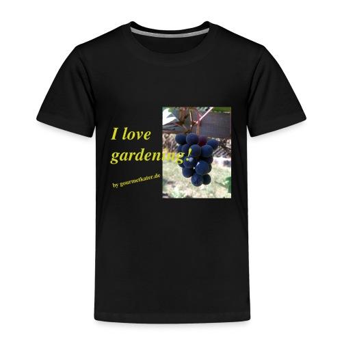 Weintraube - I love gardening - Kinder Premium T-Shirt