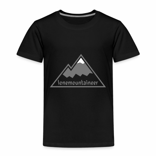 Lonemountaineer logo wht - Kids' Premium T-Shirt