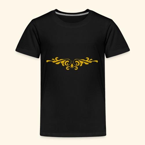 Ilustraccion de un diseño dorado - Camiseta premium niño