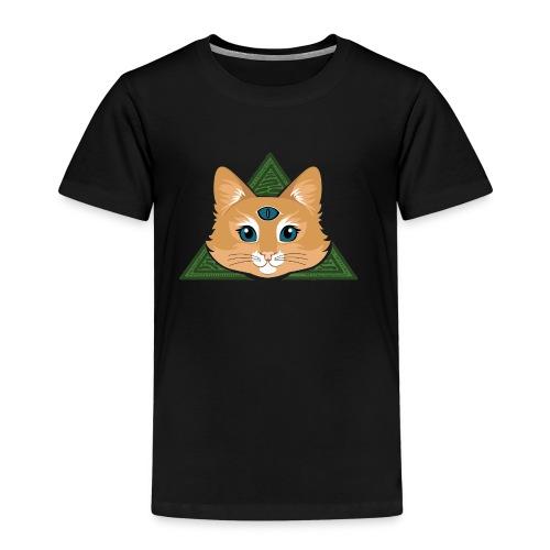 Drei Augen Katze - Kinder Premium T-Shirt