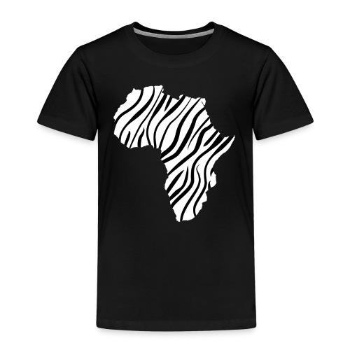 African continent in thin zebra stripes - Kinderen Premium T-shirt