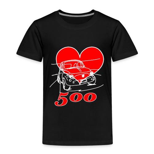 Mitica 500 Cuore - Amo la Mitica 500 - Maglietta Premium per bambini