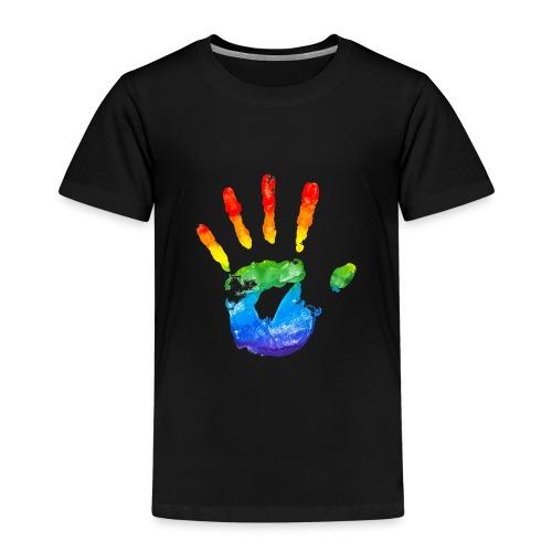 Regenbooghand - Kinderen Premium T-shirt