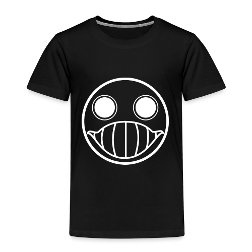 Crazy Cringe Smiley (white) - Kinder Premium T-Shirt