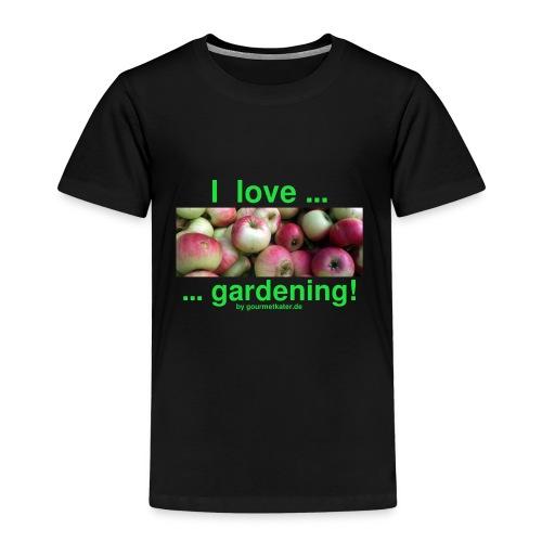 Äpfel - I love gardening! - Kinder Premium T-Shirt