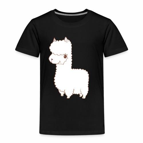 Alpaca scribble - Kinder Premium T-Shirt