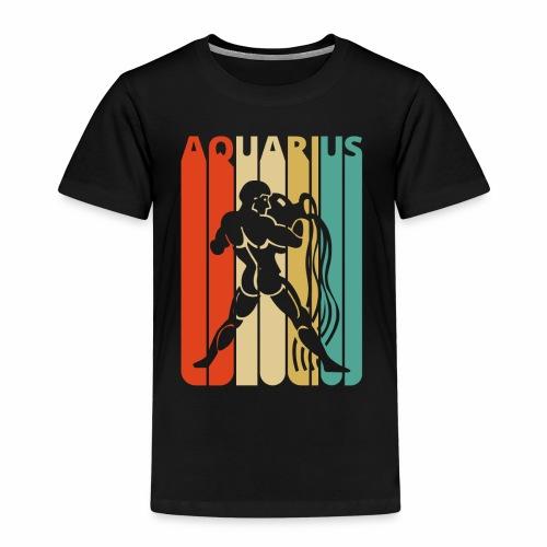 Vintage Aquarius Zodiac for Christmas, Birthday - Kids' Premium T-Shirt