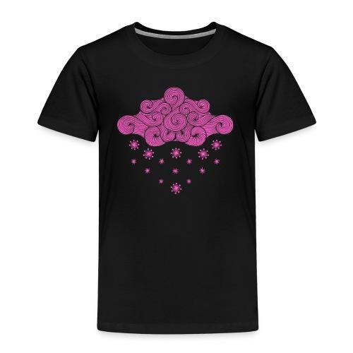 nuage rose et flocons vacances d'hiver - T-shirt Premium Enfant