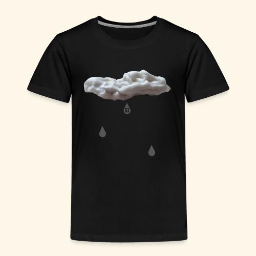 Nuvola con gocce grigie - Maglietta Premium per bambini