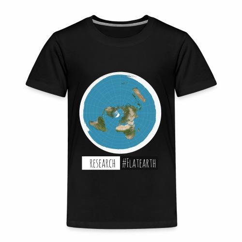 Flache Erde Karte | RESERACH #FLATEARTH - Kinder Premium T-Shirt