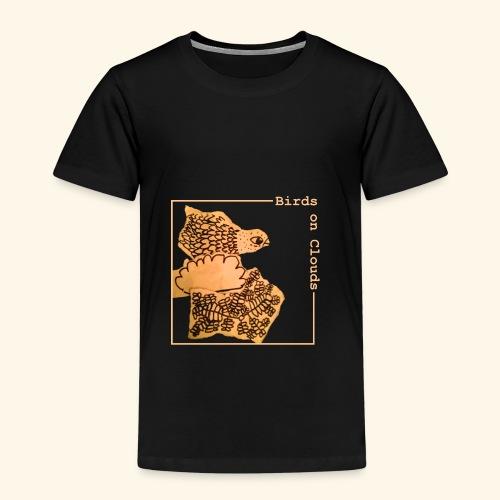 Birds on Clouds fågel med ram - Premium-T-shirt barn