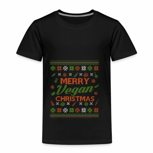 Merry Vegan Christmas Vegane Weihnachten - Kinder Premium T-Shirt