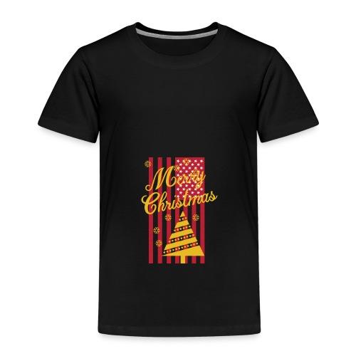 Merry Christmas USA T-Shirt - Kinder Premium T-Shirt