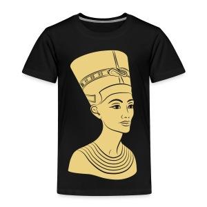 Nefertiti – Königin von Ägypten. Auch Golddruck! - Kinder Premium T-Shirt