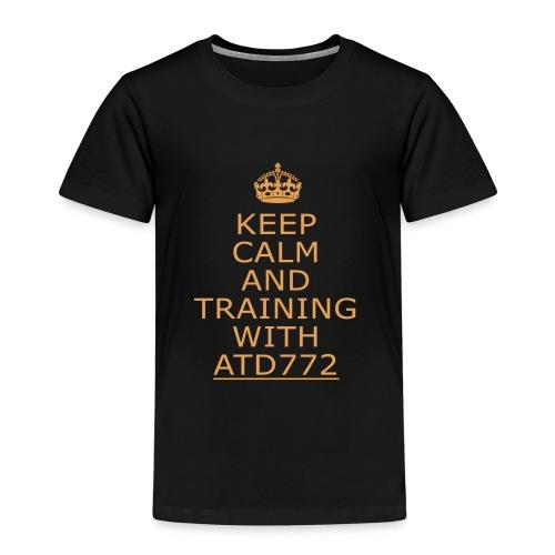 keep calm and Training with ATD772 - Maglietta Premium per bambini