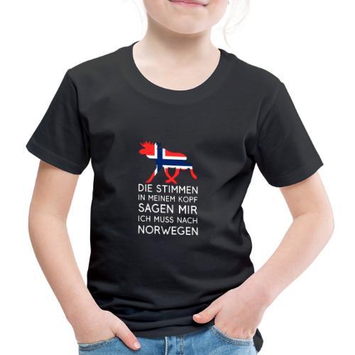 Stimmen im Kopf - Ich muss nach Norwegen - Urlaub - Kinder Premium T-Shirt