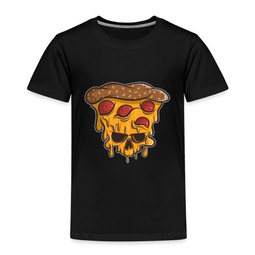 Zombie Halloween Pizza Skull - Kinder Premium T-Shirt